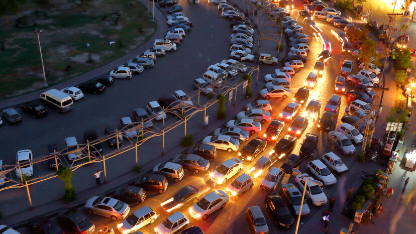 parking lot in market
