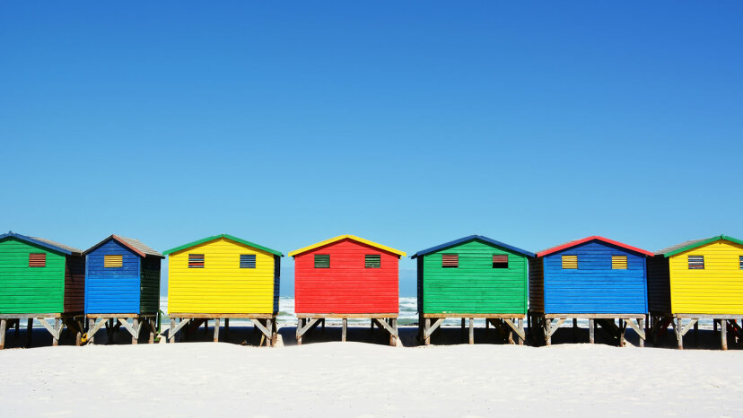 beach huts, Capetown