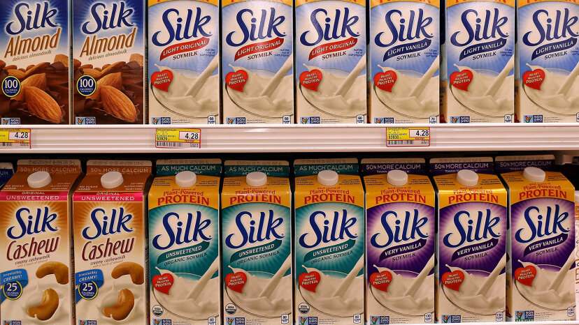 soy, almond and cashew milk