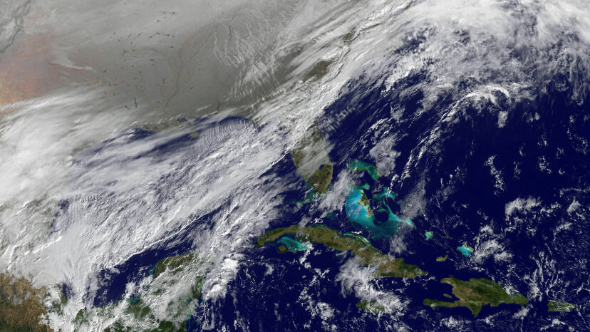 polar vortex satellite image