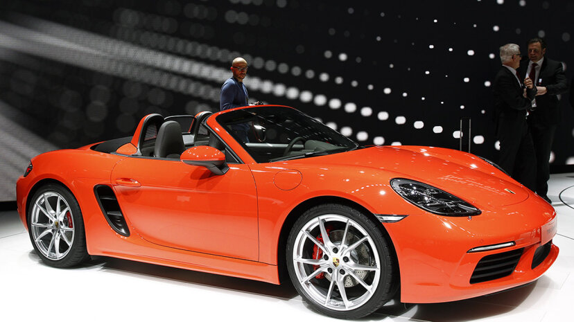 A new Porsche 718 Boxster model is on display at the 2016 Geneva International Motor Show. The Boxster is one of the models included in the new Porsche Passport subscription program. Chesnot/Getty Images