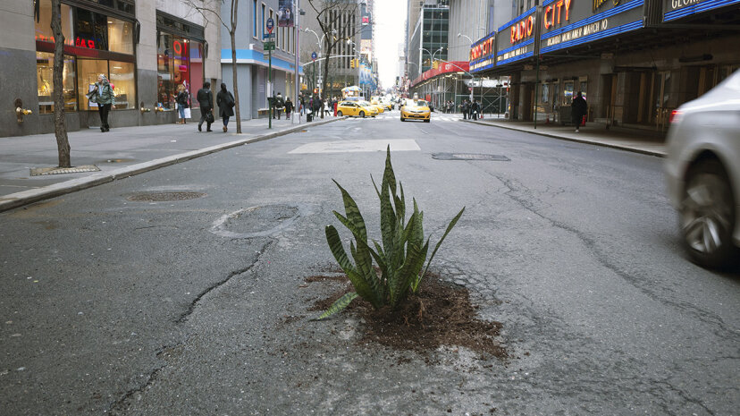 「不正な」道路乗務員が埋められていない穴を修正しています