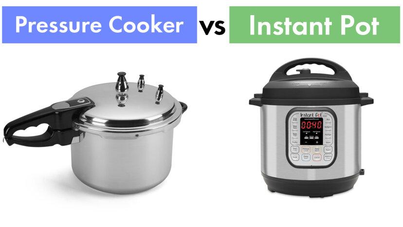 ¿Cuál es la diferencia entre una olla a presión y una olla instantánea?