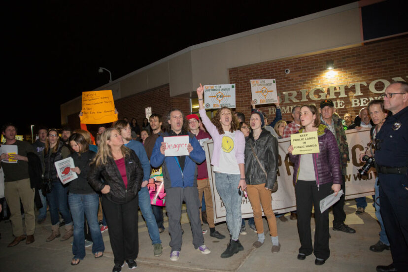 protesters in utah