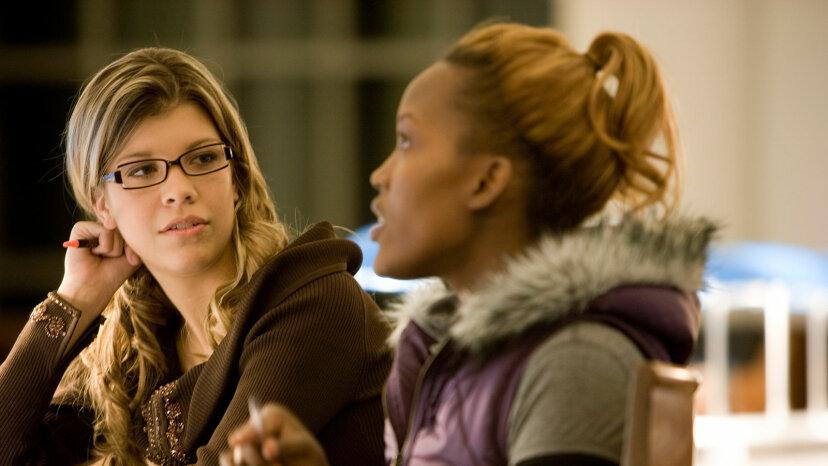 female friends, african-american and caucasian