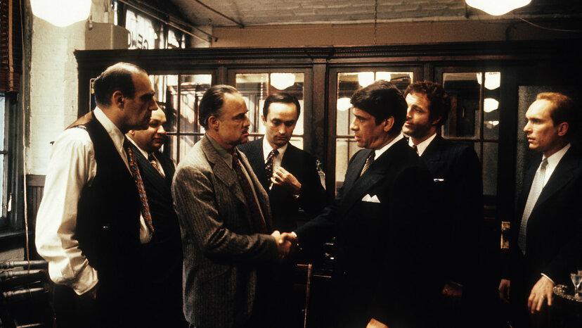 Abe Vigoda and Robert Duvall, Marlon Brando, The Godfather