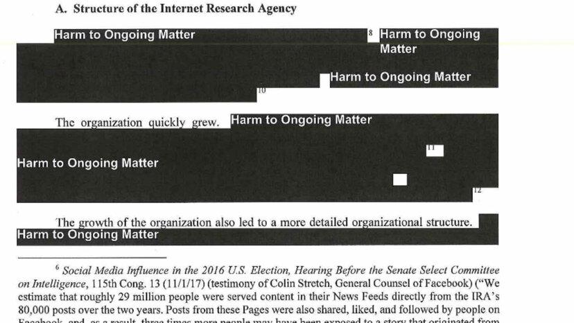 redacted Mueller report