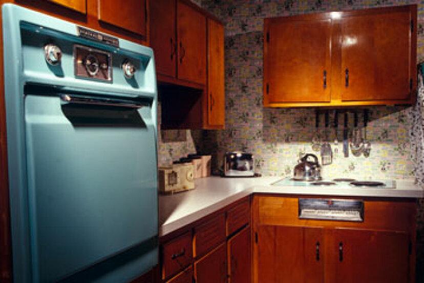レトロなキッチンが復活していますか?