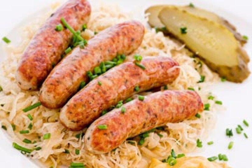 伝統的なドイツの休日のための豊かで健康的な食品