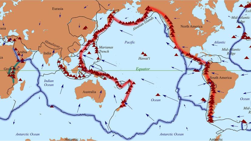 環太平洋火山帯についての7つのホットな事実