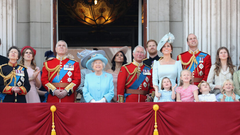 trooping the color 2018, royal family