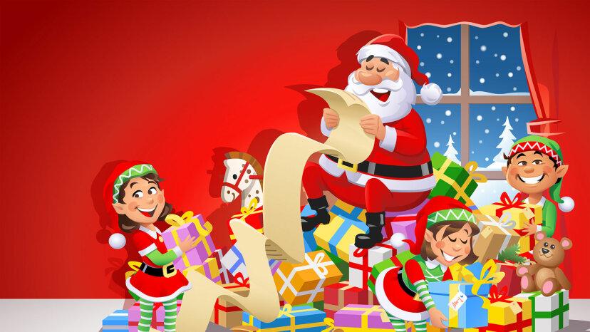 Santa's elves and Santa