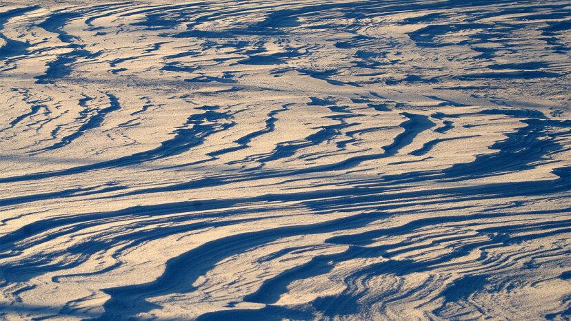 sastrugi, snow