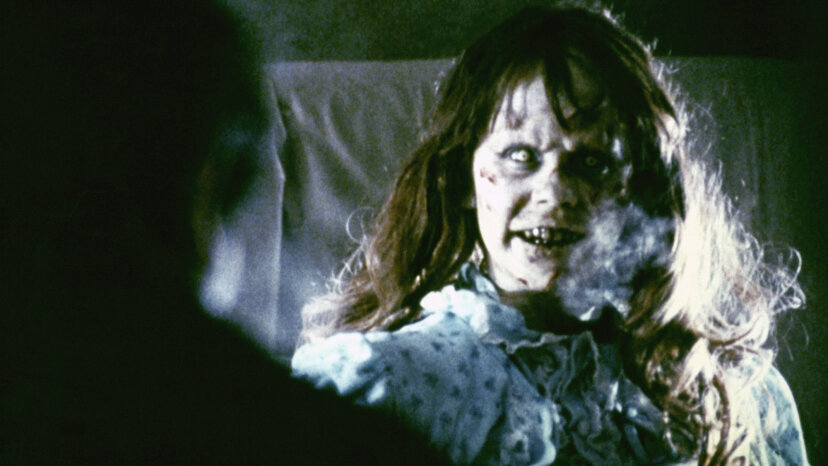 "Satan was a hot topic in movies in the 1960s and '70s. In the film ""The Exorcist,"" Regan (seen here, played by actress Linda Blair) is demonically possessed. Warner Bros. Pictures/Sunset Boulevard/Corbis via Getty Images"