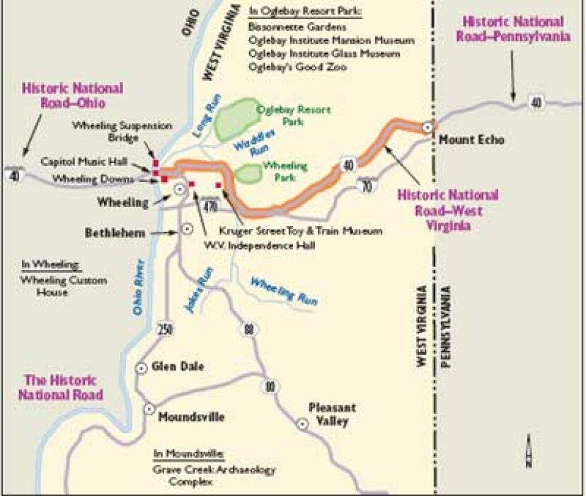 ウェストバージニアシーニックドライブ:歴史的な国道