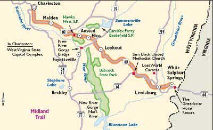 ウェストバージニアシーニックドライブ:ミッドランドトレイル