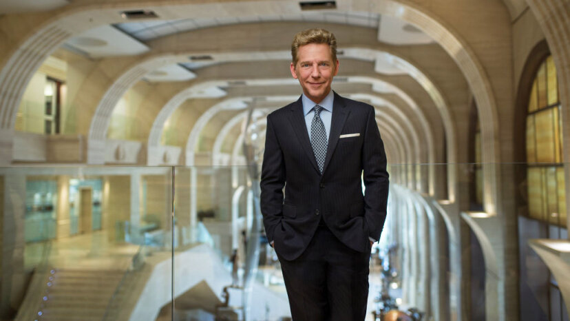 David Miscavige followed L. Ron Hubbard to become chairman of the Board Religious Technology Center and ecclesiastical leader of the Scientology religion. Church of Scientology/Getty Images