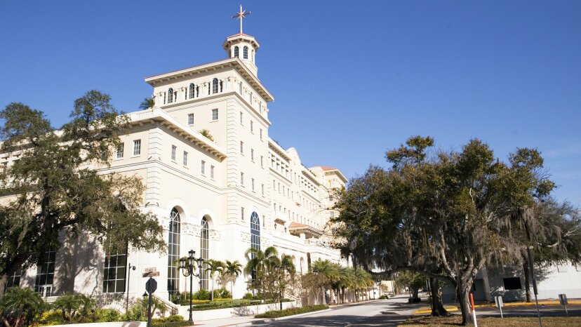 The headquarters for the Church of Scientology in Clearwater, Florida. Getty Images
