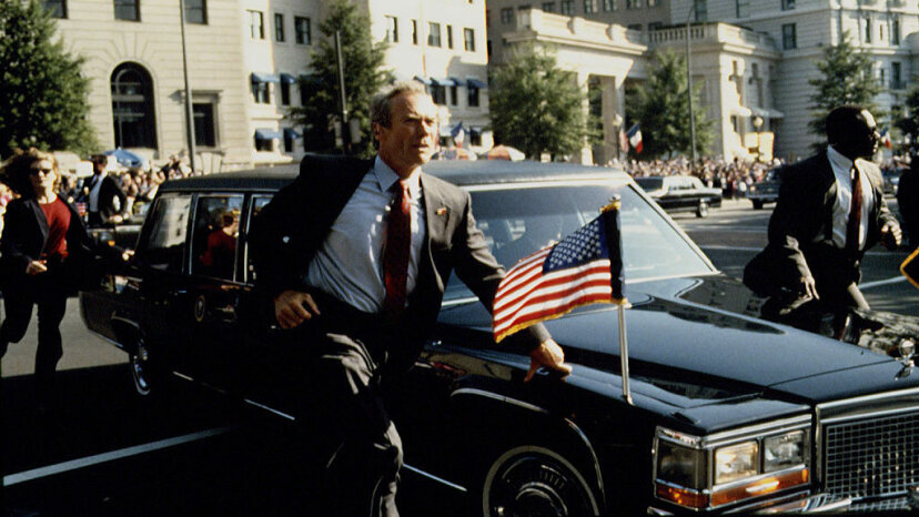 """The 1993 movie """"In the Line of Fire"""" (starring Clint Eastwood) typifies the Hollywood image of the Secret Service. Bruce McBroom/Sygma via Getty Images"""