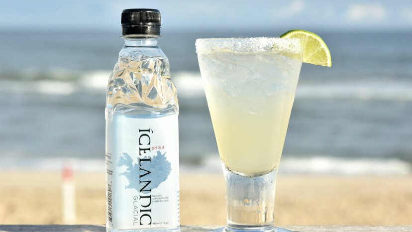 Icelandic Glacial sparkling water and Icelandic Fizzy Lime Margmarita