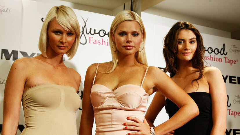 Actress Sophie Monk (c) launches the Hollywood Fashion Shapes underwear shapewear range at Myer Sydney City on Oct. 14, 2008 in Sydney, Australia. Gaye Gerard/Getty Images