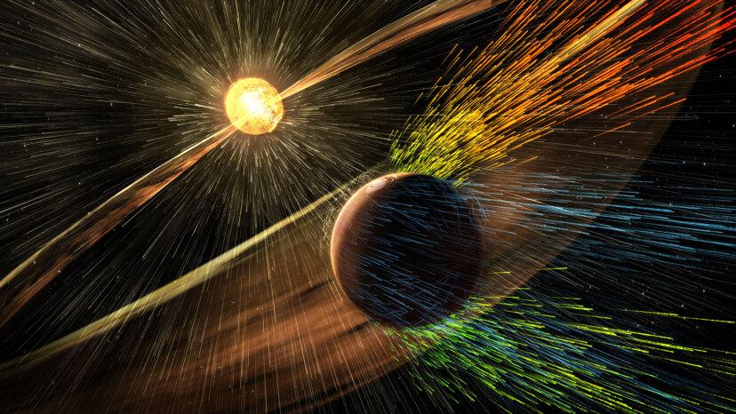 solar storm rendering