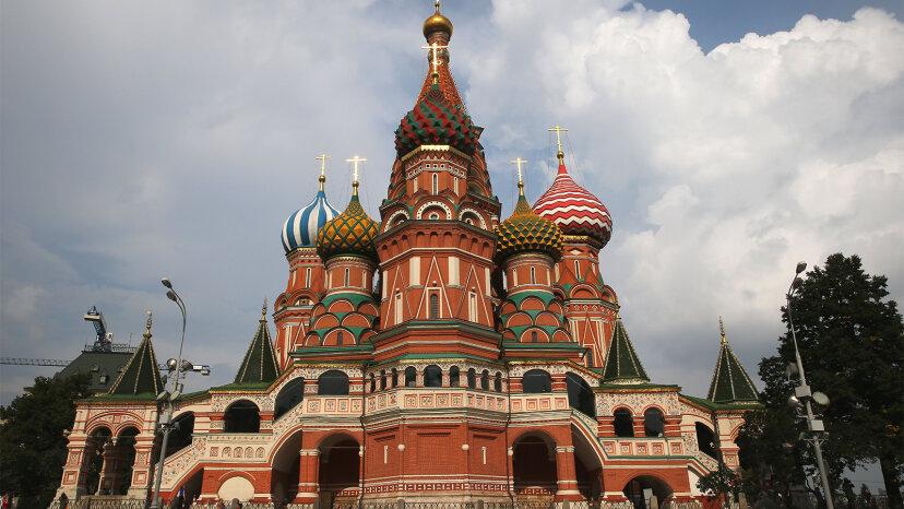 7つの異なる建築様式のモスクワの聖ワシリイ大聖堂