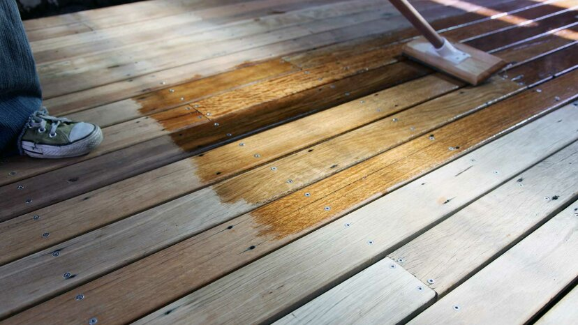 staining deck