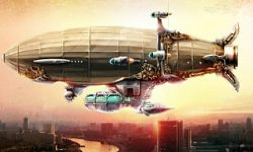 スチームパンクな飛行船:未来に戻る飛行船