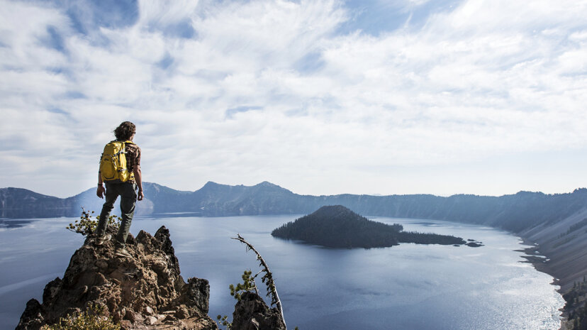 A recent study details a new method for locating lithium in lake deposits from ancient supervolcanoes, such as those found at Crater Lake in Oregon. Jordan Siemens/Getty Images
