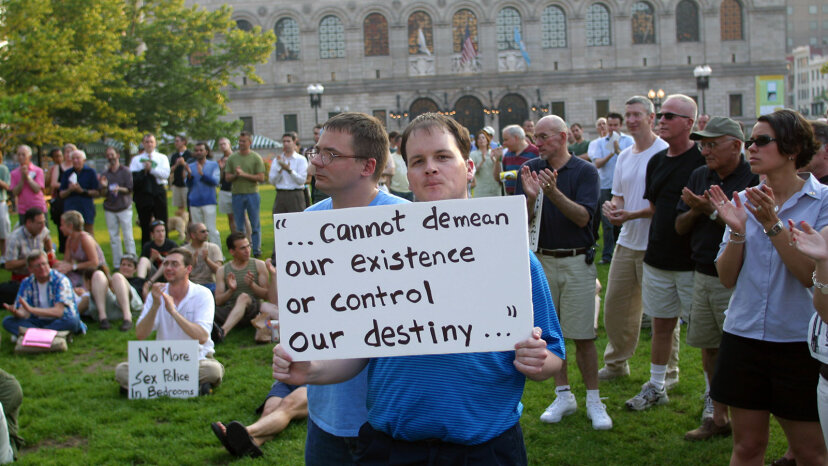Supporters, Copley Square, gay rights, National Gay and Lesbian Task Force
