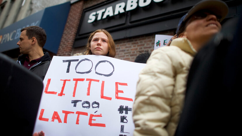 starbaucks protester