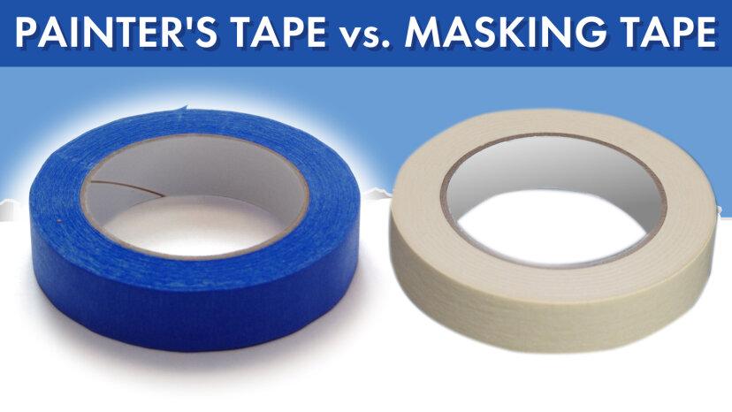 Painter's tape vs. Masking tape