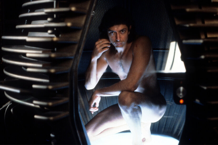 "Seth Brundle, Jeff Goldblum's character in ""The Fly"" reminds us just how messy the whole teleportation business can be. 20th Century-Fox/Getty Images"