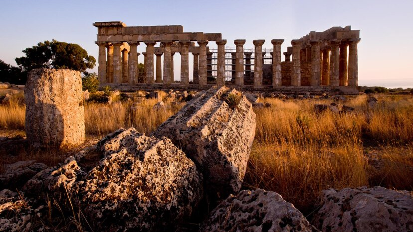 The ruins of the temple of Hera