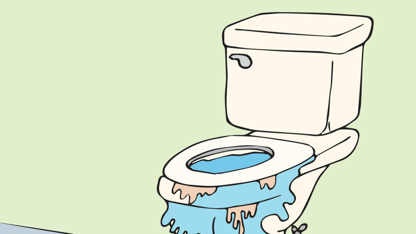 drawing of overflowing toilet
