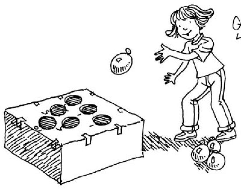 子供のためのゲームを投げる