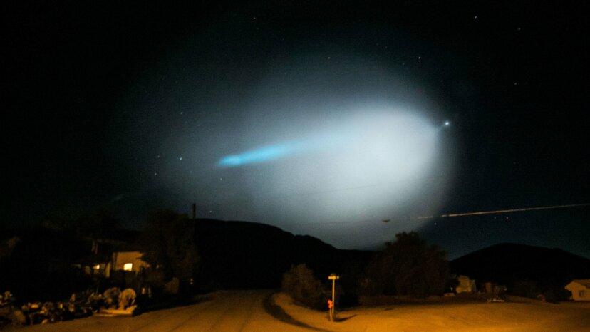 A bright light over Randsburg, California