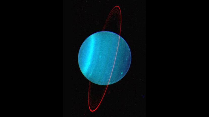 天王星:非常に傾いた軸上の惑星