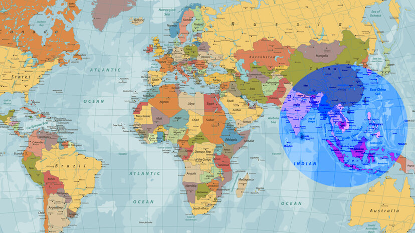 More people live inside the highlighted circle than outside of it. Cartarium/iStock/Thinkstock
