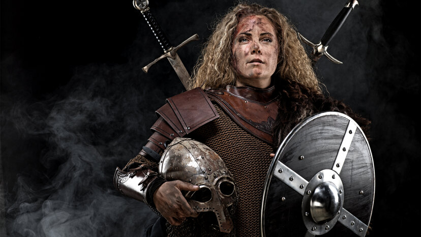 Guerrero vikingo en tumba antigua era una mujer