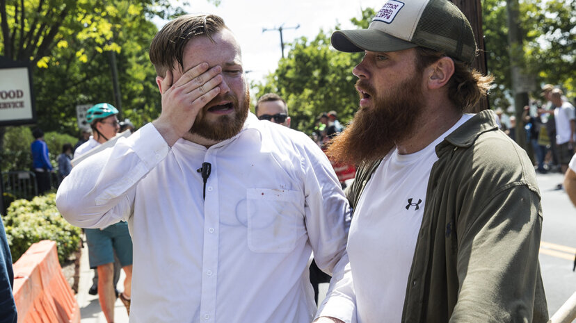 A white supremacist and another individual