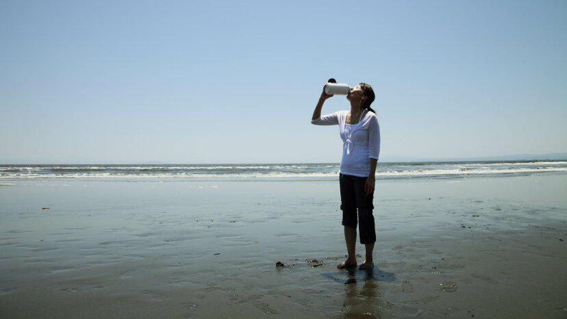 Drinking seawater