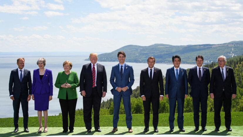 British Prime Minister Theresa May, German Chancellor Angela Merkel, G7, Canada