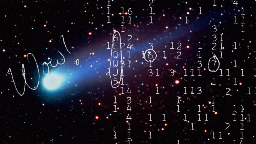 It's hard not to be a little disappointed that a comet seems to have been behind the Wow! signal. Wikimedia Commons/Art Montes De Oca/Getty