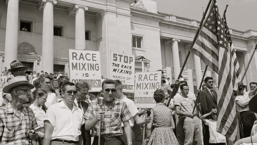 Little Rock Nine protesters