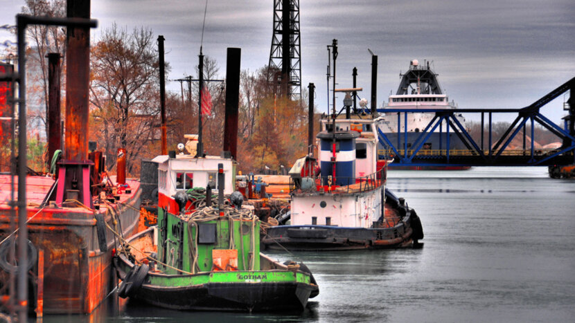 Tug boats on the Detroit River