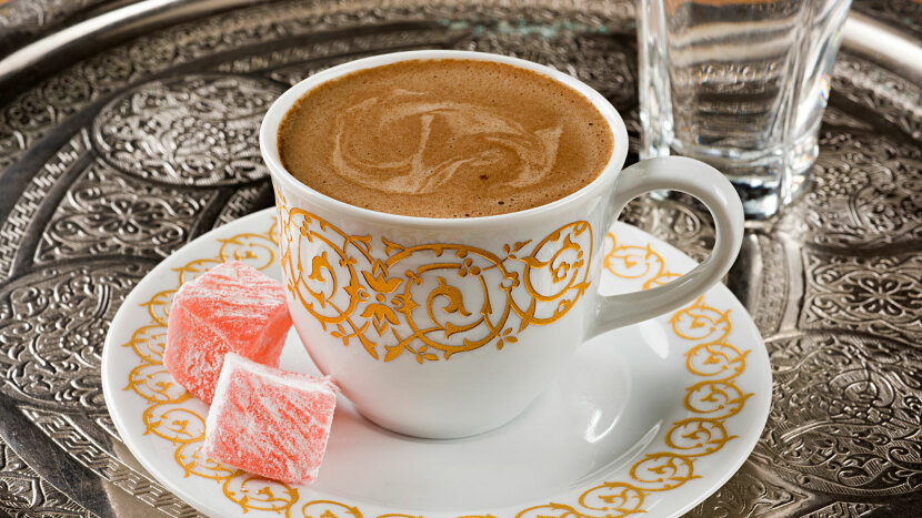 Turkish delight with Turkish coffee