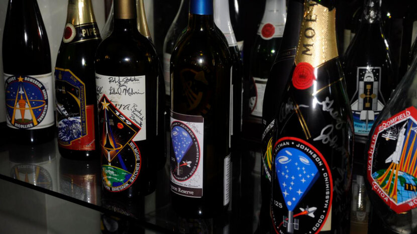 NASA signed wine bottles