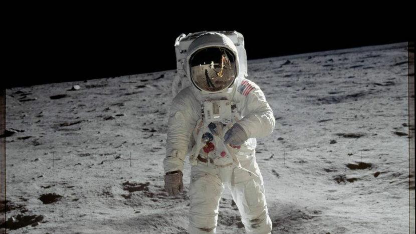Buzz Aldrin on Moon